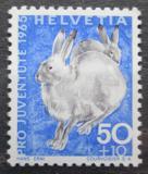 Poštovní známka Švýcarsko 1965 Zajíc bělák Mi# 830