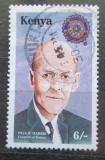 Poštovní známka Keňa 1994 Paul P. Harris, Rotary Intl. Mi# 607