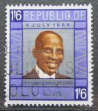 Poštovní známka Malawi 1966 Prezident Hastings Kamuzu Banda Mi# 58