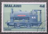 Poštovní známka Malawi 1968 Parní lokomotiva Mi# 84