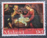 Poštovní známka Malawi 1968 Vánoce, umění Mi# 89