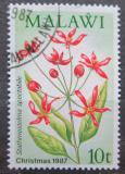 Poštovní známka Malawi 1987 Vánoce, květiny Mi# 489
