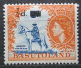 Poštovní známka Basutsko, Lesotho 1959 Jezdec na koni přetisk Mi# 57