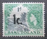 Poštovní známka Basutsko, Lesotho 1961 Řeka Orange přetisk Mi# 62