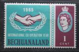 Poštovní známka Bečuánsko, Botswana 1965 Mezinárodní spolupráce Mi# 179