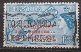 Poštovní známka Bermudy 1956 Mapa ostrova přetisk Mi# 152