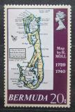 Poštovní známka Bermudy 1979 Mapa ostrova Mi# 371