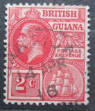 Poštovní známka Britská Guiana 1921 Král Jiří V. a fregata Mi# 141