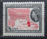 Poštovní známka Britská Guiana 1954 Mapa Mi# 203