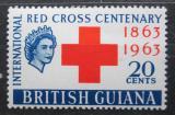 Poštovní známka Britská Guiana 1963 Mezinárodní červený kříž, 100. výročí Mi# 219