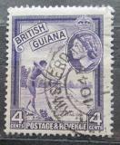 Poštovní známka Britská Guiana 1954 Tradiční rybolov Mi# 202