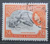 Poštovní známka Britská Guiana 1954 Těžba bauxitu Mi# 207