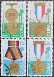 Poštovní známky Kuba 1977 Státní vyznamenání Mi# 2230-33