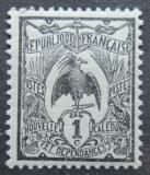 Poštovní známka Nová Kaledonie 1905 Kagu chocholatý Mi# 85