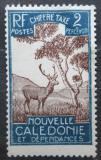 Poštovní známka Nová Kaledonie 1928 Sambar indický, doplatní Mi# 19