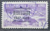 Poštovní známka Venezuela 1937 Alegorie letu přetisk Mi# 229 Kat 15€