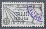 Poštovní známka Venezuela 1937 Alegorie letu přetisk RARITA Mi# 231 Kat 60€