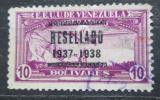 Poštovní známka Venezuela 1937 Letadlo nad Caracasem přetisk Mi# 230 Kat 50€