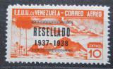Poštovní známka Venezuela 1937 Alegorie letu přetisk Mi# 219