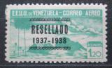 Poštovní známka Venezuela 1937 Alegorie letu přetisk RARITA Mi# 224 Kat 40€