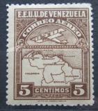 Poštovní známka Venezuela 1930 Letadlo a mapa Mi# 120