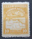 Poštovní známka Venezuela 1930 Letadlo a mapa Mi# 121