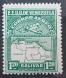 Poštovní známka Venezuela 1930 Letadlo a mapa Mi# 127