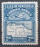 Poštovní známka Venezuela 1930 Letadlo a mapa Mi# 130