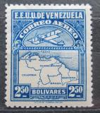 Poštovní známka Venezuela 1930 Letadlo a mapa Mi# 132