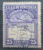 Poštovní známka Venezuela 1930 Letadlo a mapa Mi# 123