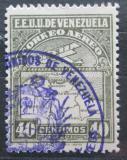 Poštovní známka Venezuela 1930 Letadlo a mapa Mi# 124