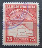 Poštovní známka Venezuela 1930 Letadlo a mapa Mi# 125