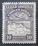 Poštovní známka Venezuela 1930 Letadlo a mapa Mi# 134