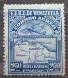 Poštovní známka Venezuela 1932 Letadlo a mapa Mi# 167