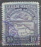 Poštovní známka Venezuela 1932 Letadlo a mapa Mi# 173 Kat 10€
