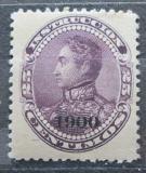 Poštovní známka Venezuela 1900 Simón Bolívar přetisk Mi# 74
