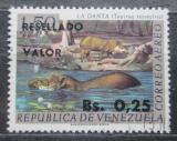Poštovní známka Venezuela 1965 Tapír jihoamerický přetisk Mi# 1597