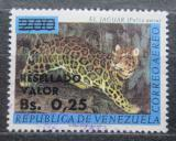 Poštovní známka Venezuela 1965 Jaguár americký přetisk Mi# 1598