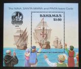 Poštovní známka Bahamy 1990 Kolumbovy lodě Mi# Block 60 Kat 8.50€
