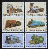 Poštovní známky Svatý Tomáš 1982 Parní lokomotivy Mi# 808-13 Kat 14€