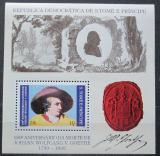 Poštovní známka Svatý Tomáš 1982 Johann Wolfgang Goethe Mi# Block 91 A Kat 15€