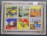 Poštovní známky Mosambik 2001 Umění, Vincent van Gogh neperf. Mi# 2103-08 B