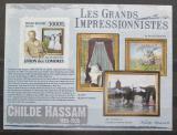 Poštovní známka Komory 2009 Umění, Childe Hassam neperf. Mi# 2597 B