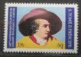 Poštovní známka Svatý Tomáš 1982 Johann Wolfgang von Goethe Mi# 765 A Kat 9€