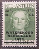 Poštovní známka Nizozemské Antily 1953 Královna Juliana přetisk Mi# 39