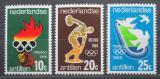 Poštovní známky Nizozemské Antily 1968 LOH Mexiko Mi# 187-89