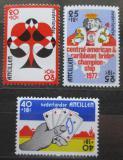 Poštovní známky Nizozemské Antily 1977 Bridž, hrací karty Mi# 329-31