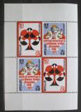 Poštovní známky Nizozemské Antily 1977 Bridž, hrací karty Mi# Block 4