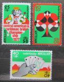 Poštovní známky Nizozemské Antily 1977 Bridž, hrací karty Mi# 332-34