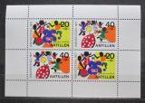 Poštovní známky Nizozemské Antily 1977 Dětské hry Mi# Block 6